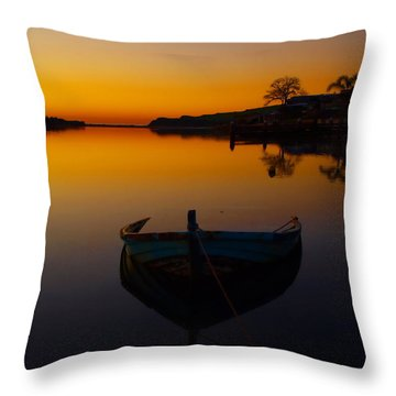 Throw Pillow featuring the photograph Alone by Trena Mara