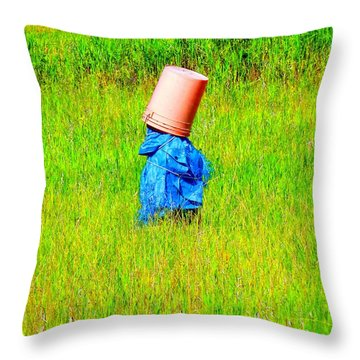 Alone With My Thoughts Throw Pillow by Newel Hunter