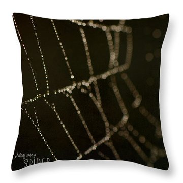 Along Came A Spider Throw Pillow by Lisa Knechtel