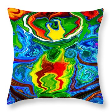 Along Came A Spider Throw Pillow by Omaste Witkowski