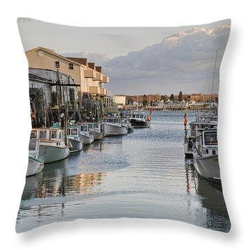 Throw Pillow featuring the photograph Along The Docks by Richard Bean
