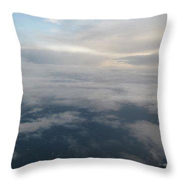 Along The Horizons Edge Throw Pillow