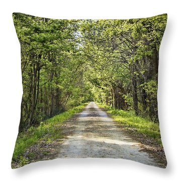 Along The Katy Trail Throw Pillow