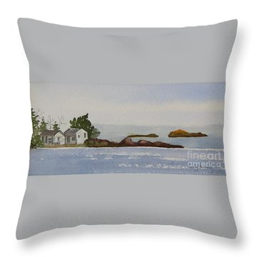 Along The North Shore Throw Pillow
