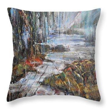 Along The River II Throw Pillow