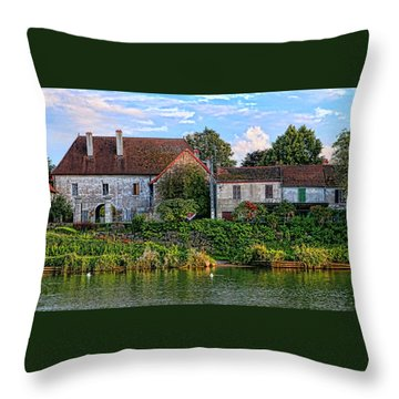 Along The River Somme Throw Pillow