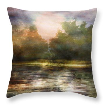 Along The Riverside Throw Pillow