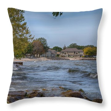 Throw Pillow featuring the photograph Along The Shores Of Marblehead by John M Bailey
