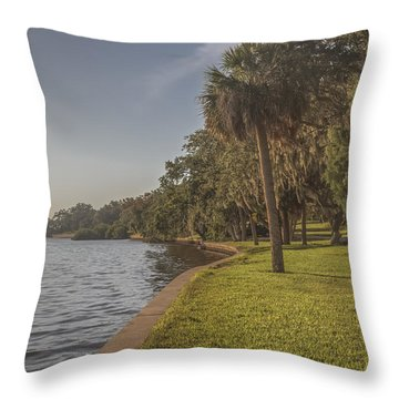 Throw Pillow featuring the photograph Along The Wall by Jane Luxton