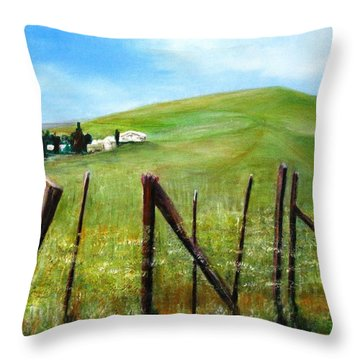 Alongside The Canal Throw Pillow
