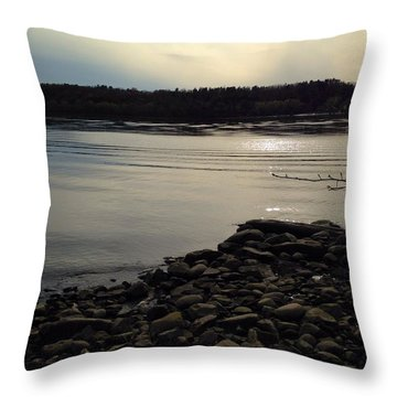 Alongside The Hudson Throw Pillow