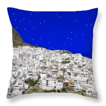 Alora Malaga Spain At Twilight Throw Pillow by Bruce Nutting