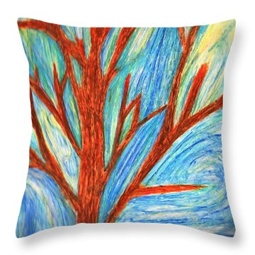 Aloushi's Abstract Throw Pillow by Renee Michelle Wenker
