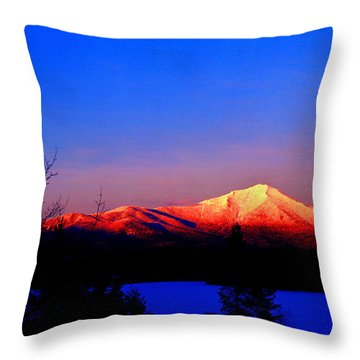 Alpenglow-whiteface Mt. Throw Pillow