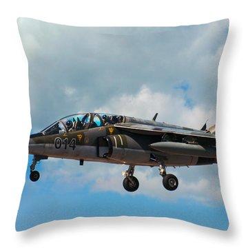 Alpha Jet 014 Throw Pillow by Bianca Nadeau
