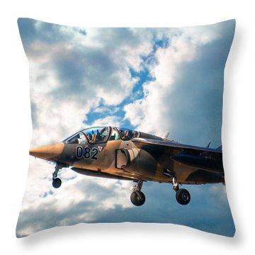 Alpha Jet 082 Throw Pillow by Bianca Nadeau