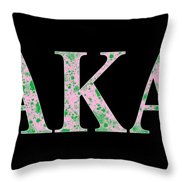 Throw Pillow featuring the digital art Alpha Kappa Alpha - Black by Stephen Younts