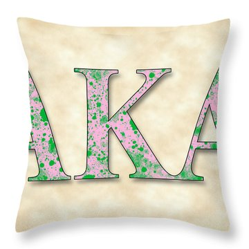 Alpha Kappa Alpha - Parchment Throw Pillow by Stephen Younts