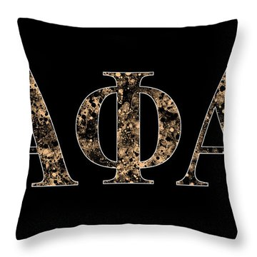 Throw Pillow featuring the digital art Alpha Phi Alpha - Black by Stephen Younts