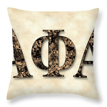 Alpha Phi Alpha - Parchment Throw Pillow by Stephen Younts