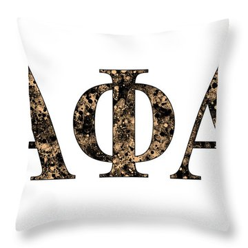 Throw Pillow featuring the digital art Alpha Phi Alpha - White by Stephen Younts