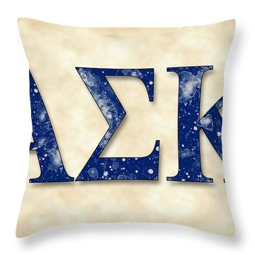 Alpha Sigma Kappa - Parchment Throw Pillow by Stephen Younts