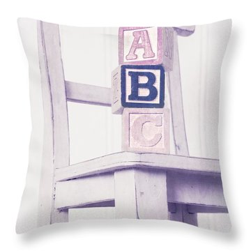Alphabet Blocks Chair Throw Pillow by Edward Fielding