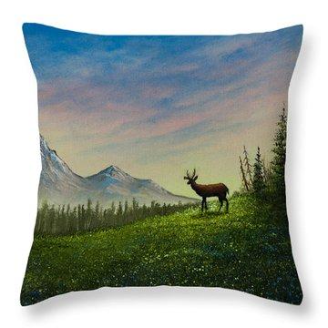 Alpine Beauty Throw Pillow by C Steele