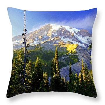 Alpine Glow 2 Throw Pillow by Marty Koch