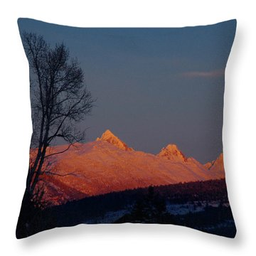 Throw Pillow featuring the photograph Alpenglow by Raymond Salani III