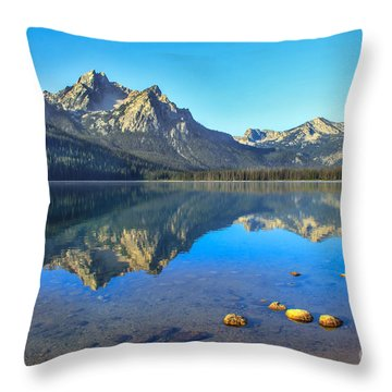 Alpine Lake Reflections Throw Pillow by Robert Bales