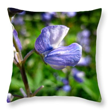 Throw Pillow featuring the photograph Alpine Lupine by Kathy Bassett
