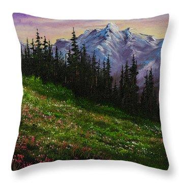 Alpine Meadow Throw Pillow by C Steele