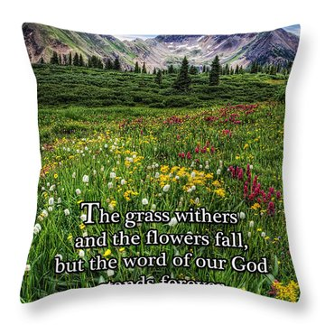 Alpine Meadow Throw Pillow by Priscilla Burgers