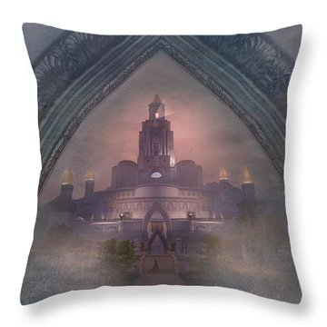 Alqualonde Castle Throw Pillow by Kylie Sabra