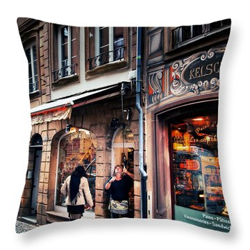 Throw Pillow featuring the photograph Alsace Slice Of Life by Jim Hill