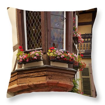 Alsace Window Throw Pillow by Brian Jannsen