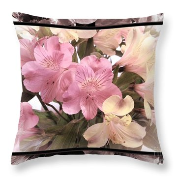 Alstroemeria Lily Of Peru Throw Pillow
