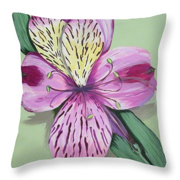 Alstroemeria No.1 Throw Pillow