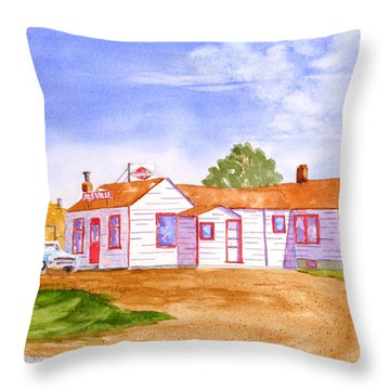 Throw Pillow featuring the painting Alsville by Rich Stedman