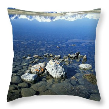 Altai Throw Pillow by Anonymous