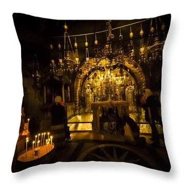 Altar Of The Crucifixion Throw Pillow