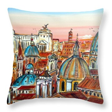 Altare Della Patria In Roma Throw Pillow