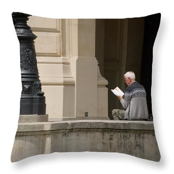 Throw Pillow featuring the photograph Alte Oper by Steven Richman