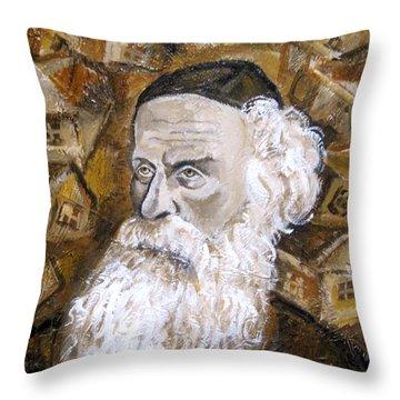 Alter Rebbe Throw Pillow by Leon Zernitsky