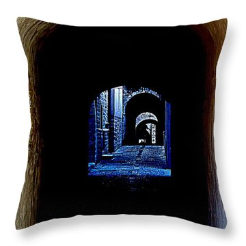Altered Arch Walkway Throw Pillow