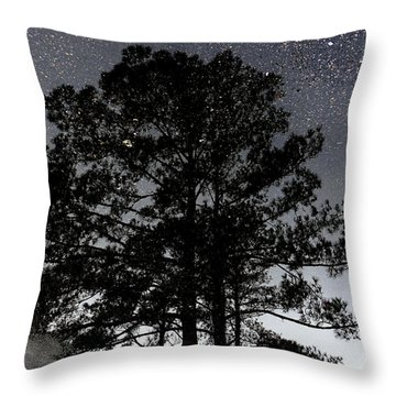 Asphalt Reflections Throw Pillow