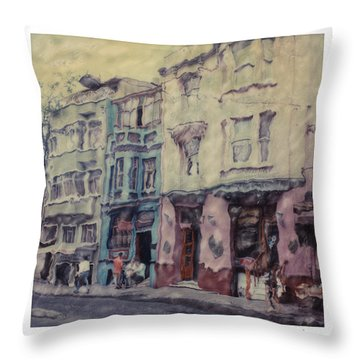 Altered Polaroid - Kybele Hotel 1 Throw Pillow by Wally Hampton