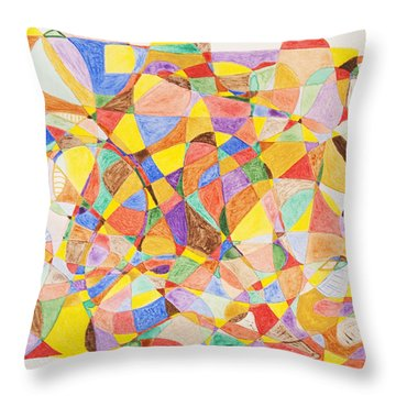 Throw Pillow featuring the painting Alternate Realities by Stormm Bradshaw