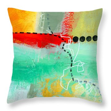 Alternate Route 56 Throw Pillow by Jane Davies